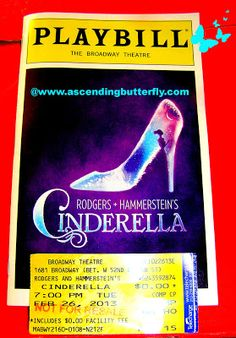 Playbill for Rodger's + Hammerstein's Cinderella at Broadway Theatre in #NewYorkCity