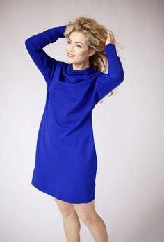 Blue oversized dress oversize blue dress plus size by ADORIQUE