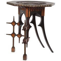 Carl Bugatti Octagonal Occasional Table, 1898 For Sale Table Furniture, Antique Furniture, Modern Furniture, Furniture Design, Art Nouveau Furniture, Home Garden Design, Modern Side Table, Furniture Manufacturers, Vintage Table