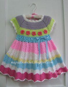 Magia do Crochet: Vestido em crochet para uma menina                                                                                                                                                                                 Mais
