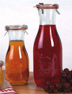 beautiful Small Mouth European Glass Canning/Juice Jars