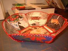 Recycled Holiday Card Bowl - OCCASIONS AND HOLIDAYS