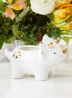 Dinosaur Ceramic Planter-As nursery decor, party favors, kids room decorations, or as an adorable little touch to any room of your home, we have Kate Face Planters, Ceramic Planters, Ceramic Clay, College Gifts, Small Succulents, Cute Clay, Plant Holders, Kids Decor, Nursery Decor