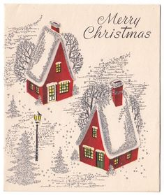 """VINTAGE Greeting Card Merry Christmas Red Houses Silver Gilt Sangamon L09 - $1.99. Vintage Greeting Card Used/Signed Silver gilt accents Edge wear (bump) on back cover""""Sangamon""""6"""" x 5"""" See my other listings for more Vintage Greeting Cards I am happy to combine shipping Please wait to pay until you are finished shopping and make ONE PayPal payment $1 for the first card, 20 cents for each additional card Purchase 10 or more cards and shipping is FREE International customers shipping is $3...."""