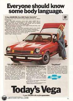 1977 Chevrolet Vega Everyone Should Know Some Body Language Car Vintage Print Ad Chevrolet Vega, Chevy, Car Brochure, Ad Car, Some Body, Car Advertising, Old Ads, Body Language, Print Ads