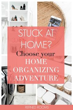 Stuck at home for awhile? Feel in control again - choose your own organizing adventure! These home organization projects are a perfect antidote to boredom. Household Organization, Finance Organization, Home Office Organization, Paper Organization, Organizing Tips, Organising, Home Improvement Projects, Home Projects, Interior Door Knobs