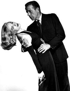 Humphrey Bogart and Lizabeth Scott