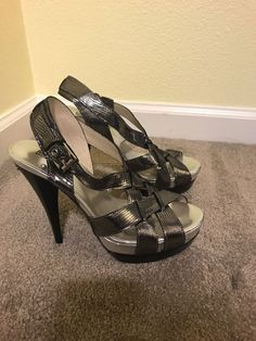 e785031ec7e8 Michael Kors Pewter Heel Size 7 #fashion #clothing #shoes #accessories  #womensshoes