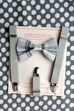 boy bow tie suspenders set holiday bow tie by LittleBoySwag. I'm so getting this for Sam! Toddler Wedding Outfit Boy, Navy Blue Bow Tie, Baby Boy Suspenders, Little Boy Swag, Ring Bearer Outfit, Bow Tie Wedding, Boys Bow Ties, Cute Outfits For Kids, Baby Outfits