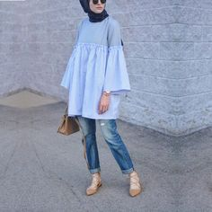 Ideas Style Vestimentaire Femme Robe For 2019 Modern Hijab Fashion, Hijab Fashion Inspiration, Islamic Fashion, Muslim Fashion, Modest Fashion, Fashion Outfits, Hijab Chic, Hijab Style Dress, Casual Hijab Outfit