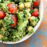 Lemon Quinoa Avocado Cilantro Chickpea Salad | JuJu Good News