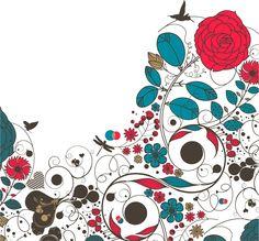 検索「柄」  http://www.bezier.info/2013/02/floral-flower-vector-background.html