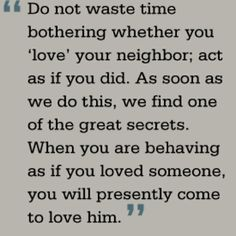 C. S. Lewis on loving your neighbor