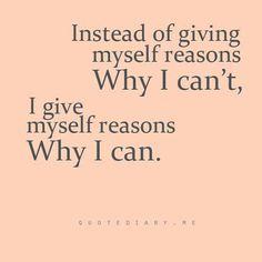 DIANA'S SPIRITUAL ENLIGHTENMENT  En vez de darme razones porque no puedo,  Mejor me doy razones porque SI PUEDO!!!!!