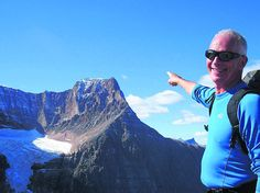 Simon Knighton, who is chairman of the county branch of the Cavell Nurses' Trust, visited Jasper in the Canadian Rockies to take on the 3,363 metre high Mount Edith Cavell
