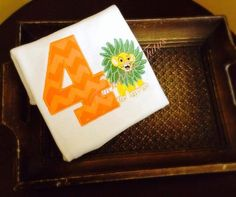 Young Simba birthday top  personalized by TouchdownTutus on Etsy, $22.00