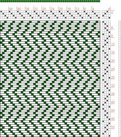 Hand Weaving Draft: Forward, Figure 20, Donat, Franz Large Book of Textile Patterns, 4S, 4T - Handweaving.net Hand Weaving and Draft Archive