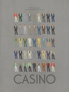 Casino Tribute Poster - Every poster ever worn by De Niro in the film.