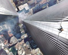 The new film is the realistic depiction of the illegal stunt between the towers — a 45- minute walk at 1,350ft, depicted by a swooping camera, with the Manhattan pavements horribly far below