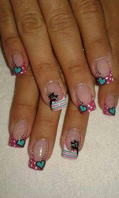 Nail Nail Art Diy, Diy Nails, Pedicure, Nail Designs, Make Up, Snoopy, Mary, Ideas, Nail Bling