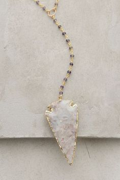Agate Arrowhead Necklace - #anthrofave
