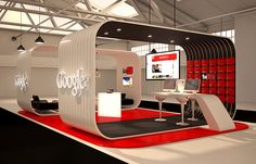 Design and 3D Visualization of a stand for a trade show.