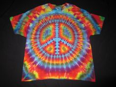 AL3XL11 Psychedelic Peace Sign, Random Back, Men's 3XL, Ladies 4XL on Etsy, $44.60 CAD