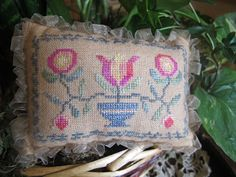 #From the Heart - Folk Art Floral. #cross #stitch