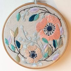 Finished, I can't wait to start the next one! . . . . . . . . . . . .  #embroidery #stitch #stitchart #hoopart #embroideryhoop #ilovetosew #sewin #sew #embroideryart #dmcthread #threads #threadart #contemporaryembroidery #dmccreativeworld #floral #botanical #botanicalart #ilovetostitch #embroideryinstaguild