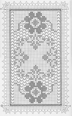 Скатерть крючком. Работа Татьяны Ивановны вязание и схемы вязания Crochet Table Runner Pattern, Crochet Edging Patterns, Filet Crochet Charts, Christmas Crochet Patterns, Crochet Motif, Crochet Carpet, Crochet Dollies, Crochet Decoration, Crochet Curtains