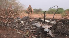 Soldiers guard wreckage of the #AirAlgerie crash. It's a much different scene in #Ukraine with #MH17.