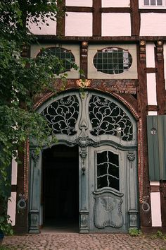 Detmold Germany - Art Nouveau door at the open air museum