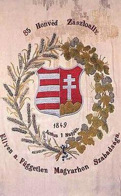 1849. Székelyföldi 85. Honvéd zászlóalj zászlaja.