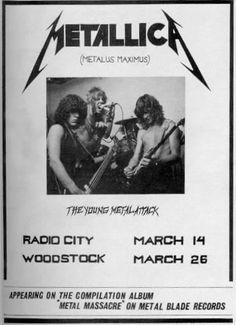 Metallica plays their first gig.