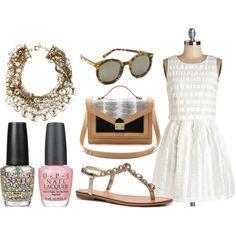 """Summer Jeweled Sandal - DSW"" by fashboulevard on Polyvore #DSWShoeHookup #PinToWin"