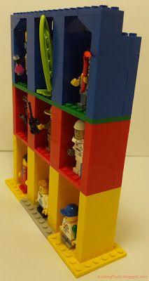 Lego mini-figure display stand. Buildingtruth.blogspot.com