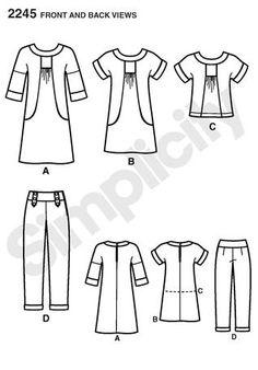 Simplicity 2245-Lisette Portfolio Tunic-with pockets!