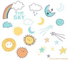 The Sky CLIP ART Set. $8.00, via Etsy.
