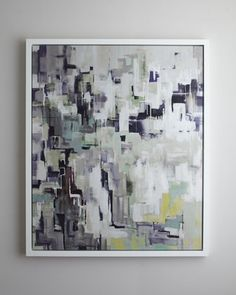 """Purple """"Puzzle"""" Giclee at Horchow."""