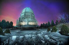 The Baha'i Temple at Blue Hour, via Flickr.