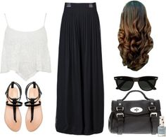 Requested: Carrie Underwood  Hunter Hayes Concert (Outfit 1) by eleanorcalder-lookbook featuring flats sandals