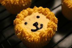 Lion cupcake close-up
