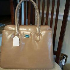 Beige Handbag By Belle Women