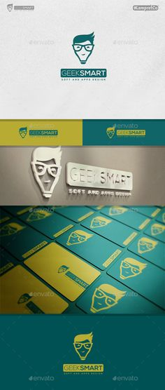 Geek Smart Logo — Photoshop PSD #simple #engine • Available here → https://graphicriver.net/item/geek-smart-logo/9272697?ref=pxcr