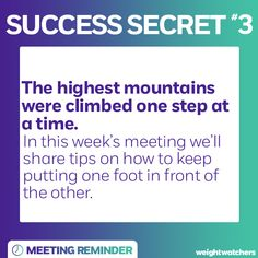 In this week's meeting we'll share why taking it one step at a time is key #WWLoves