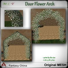 Fantasy China Door Flower Arch ~ Quest Gift Shopping Catalogues, Fantasy, China, Arch, Presents, Doors, The Originals, Holiday Decor, Frame
