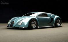 If the Bugatti Veyron was designed in 1945... - Imgur