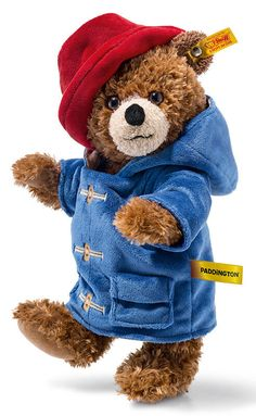 Established in 1992 we are an official Steiff stockist, so you can adopt your bears and friends with confidence from The Bear Garden! Paddington Bear Toy, Steiff Teddy Bear, Teddy Bears, Blue Raincoat, All Toys, Red Hats, Childhood, Cartoons, Character
