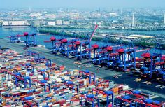 This Is The Port of Hamburg, This Is The Second Largest Container Port In Europe