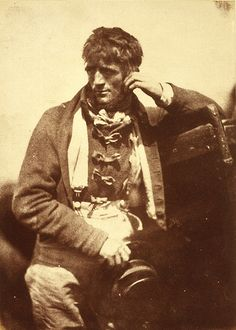 'A Newhaven Pilot' Robert Adamson, David Octavius Hill 1916 (original negative around 1845)